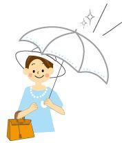 紫外線防止 女性 日傘 アイキャッチ
